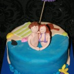 עוגה ליום נישואין בים