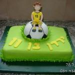 עוגות לבנים , עוגות יום הולדת לבנים , עוגת כדורגל , עוגת מגרש כדורגל, עוגות מעוצבות