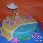 עוגות לאירועים , עוגות מעוצבות , עוגות דנה'לה ,עוגות חוף ים