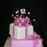 עוגת מתנות סגולה